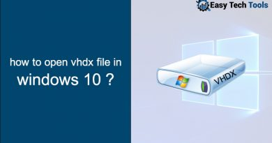 How to Open VHDX Files in Windows 10