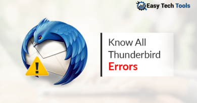 Thunderbird errors