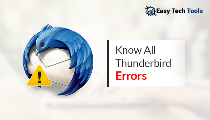 Thunderbird errors