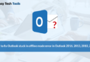 Fix Outlook stuck in offline mode