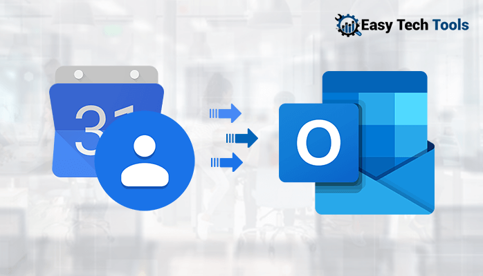 import/sync Google contacts and calendar with Outlook