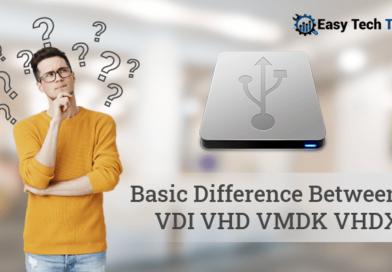 Difference between vhd, vdi, vhdx, vmdk
