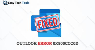 0x800ccc0d outlook error