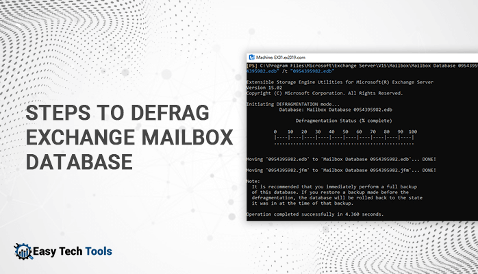 Steps to Defrag Exchange Mailbox Database