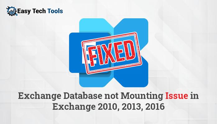 failed to mount database Exchange 2016/2013