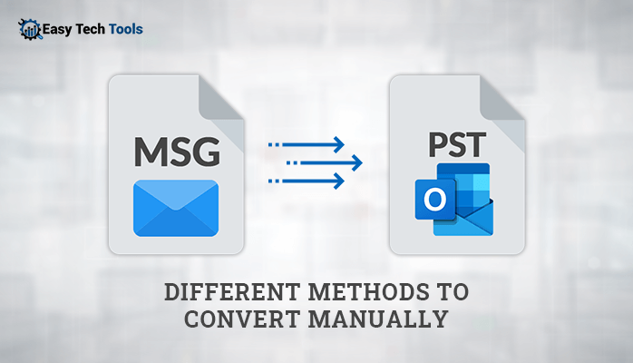 Conversion of MSG file to Outlook PST